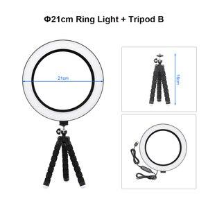 Image 5 - ANBLUB anneau lumineux de Studio, LED 3500 k, intensité variable, USB 5500, avec trépied, lampe annulaire pour photographie, Selfie, vidéo Youtube, maquillage, vidéo en direct