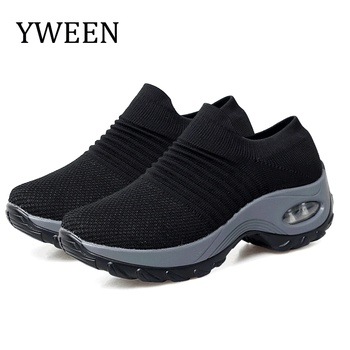 YWEEN Women Platform Sneakers Spring ladies Wedges Casual Shoes Trainers Comfortable Femme Height Increasing