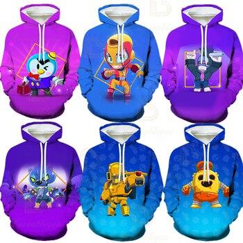 Crow Star Hoodie 3D Print Kids Child Cartoon Game Long Sleeve for Boy Tops Clothes Sweatshirts