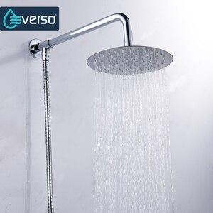 Image 3 - Vòng & Vuông Inox Sen Tắm Lượng Mưa Tắm Mưa Chrome Cao Cấp Chuveiro Tắm Vòi Ducha