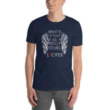 Lucifer Morningstar, tv series, netflix Short-Sleeve Unisex T-Shirt Summer Short Sleeves Fashion
