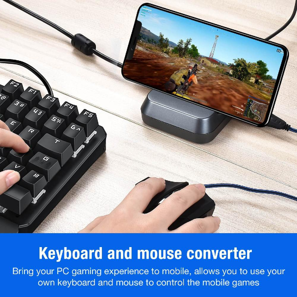 Pubg Mobile Gamepad Controller Gaming <font><b>Keyboard</b></font> Mouse <font><b>Converter</b></font> For Android IOS Phone <font><b>to</b></font> PC <font><b>Bluetooth</b></font> Adapter Plug and Play image