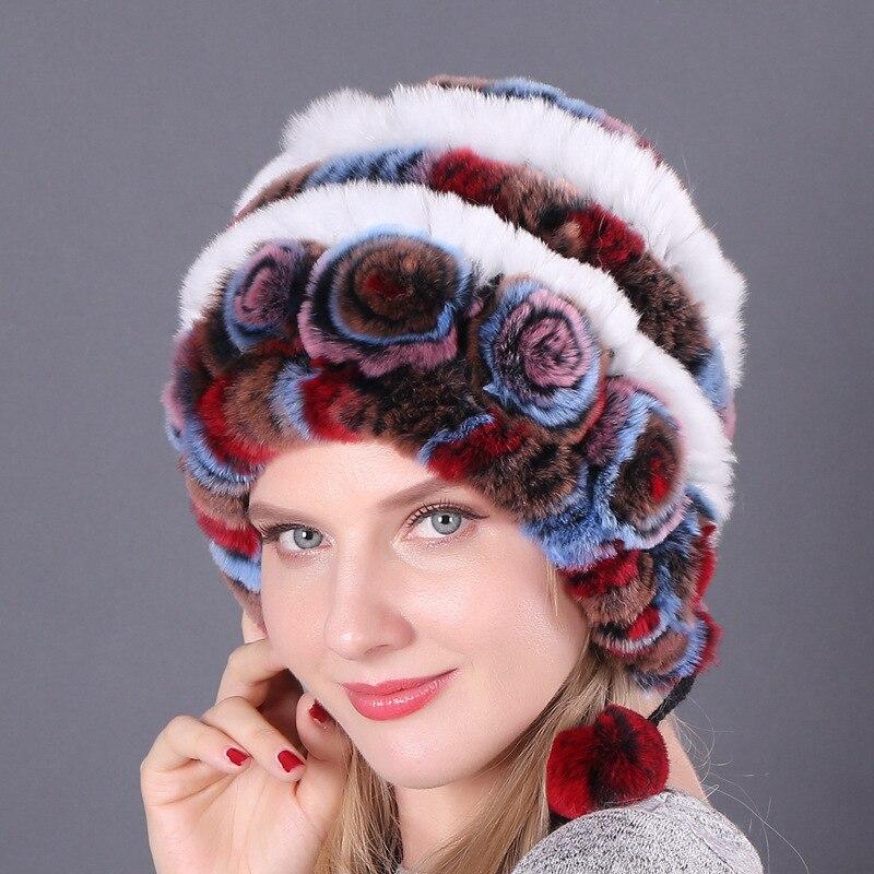 Купить 2020 натуральная мягкая вязаная шапка из меха кролика рекс для