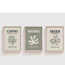 Gorąca sprzedaż Assouline i w najlepszych cenach 3-zestaw do druku szałwia zielona ściana sztuki Ibiza i w najlepszych cenach Miami wall art Capri i w najlepszych cenach podróży i w najlepszych cenach i tanie tanio ReachMani CN (pochodzenie) Wydruki na płótnie Łączone PŁÓTNO Olej Martwa natura Bezramowe lustra abstrakcyjne LMM294