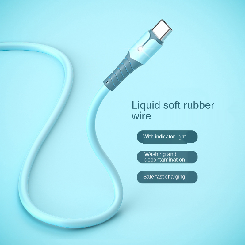 Liquid Silicone 5A Micro USB Type C Cable Fast Charging Mobile Phones Android Data Cord For Huawei Xiaomi Samsung Galaxy Redmi