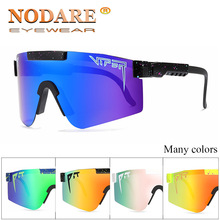 2020 Pit Viper Flat Top Sun Glasses TR90 Blue Frame Mirrored Lens Windproof Sport Polarized Sunglasses For Men/Woman UV400