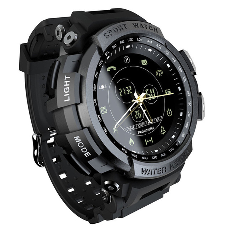 Montre de sport intelligente gestion de la santé en plein air compteur d'étape Bluetooth 4.0 bracelet randonnée étanche bracelet horloge smartwatch