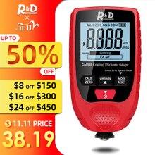 Medidor de grosor de capa de pintura R & D GM998, medidor de espesor de recubrimiento de metal electrochapado de pintura de coche, sonda Fe & NFe de 0 1500um