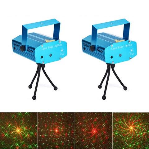 1 set mini led projetor laser clube do partido ktv decoracao efeito de luz de