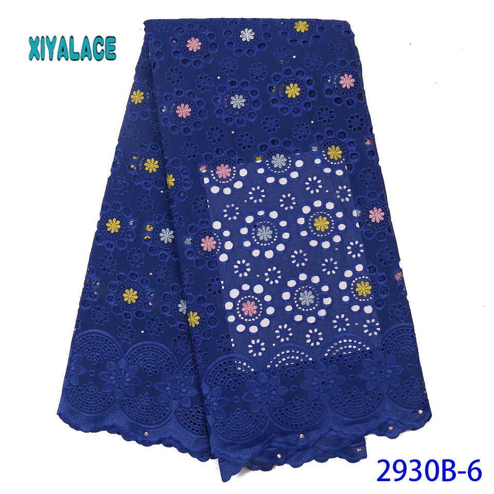 Latest African Lace Fabric Nigerian Lace Fabric 2019 High Quality French Tulle Lace Swiss Lace Fabric For Woman Dresses YA2902B6
