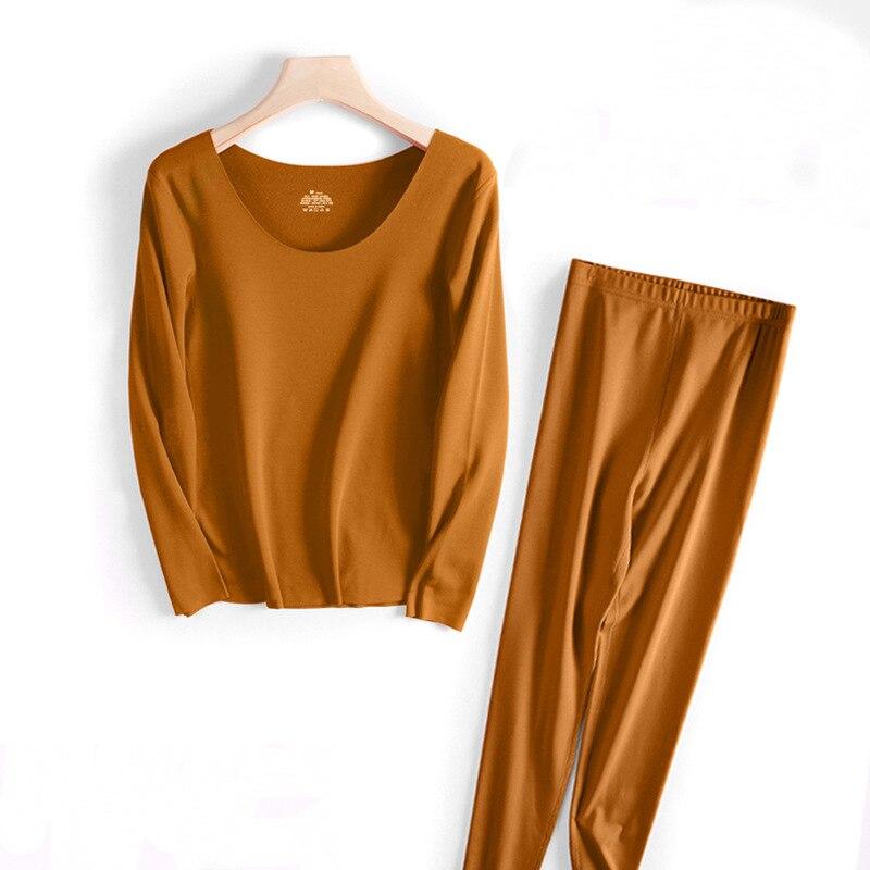 Ropa interior térmica Coreana de fibra reciclada para mujer, Sexy, larga, para invierno, para mujer, 2020 cálida