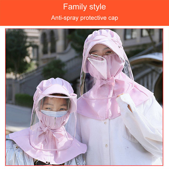Protective Face Mouth Mask Particulate Respirator UV Protect Hat Mask Splash Prevents Saliva Transmission Windproof Sand Mask