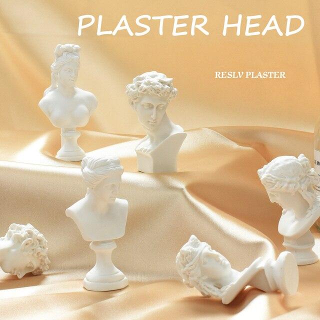 Sculpture nordique créative plâtre mythologie grecque Imitation résine tête humaine Photo décors décoratifs pour accessoires de photographie
