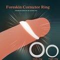 2 шт силиконовый мужской крайней плотью корректор сопротивление Кольцо Задержка эякуляции для пениса Кольца Секс-игрушки для Для мужчин на ...
