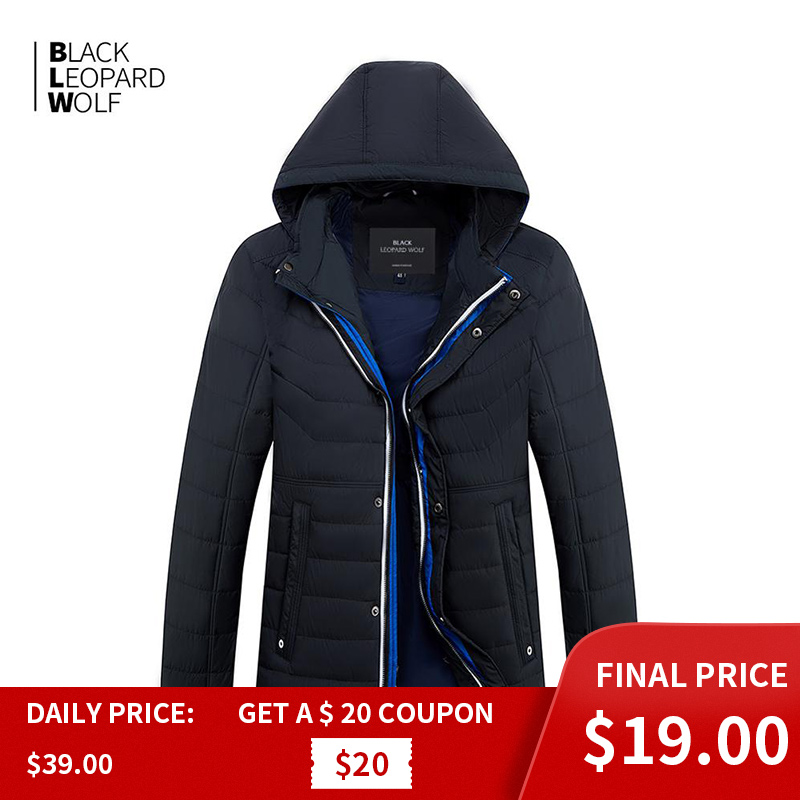 Blackleopardwolf 2019 New Arrival Spring  Jacket Men Thin Cotton With A Hood Fashion Style Down Jacket Men For Spring ZC-C562
