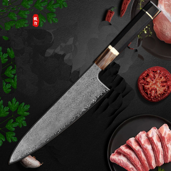 Damascus chef knife 8 inch Damascus Chef Knives 67 Layers Damascus Steel Kitchen Knives High carbon steel Japanese style knife