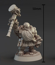 [Tusk modelo] resina figura 32mm escala resina modelo kits sem pintura miniaturas d1027t02