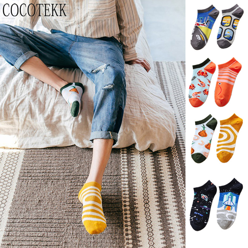 New Arrival Spring Summer Trendy Happy Socks Funny Harajuku Creative Personality Ankle Men Socks Women Couple Street Sweet Style
