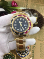 Di lusso di Nuova Marca Degli Uomini Meccanici Automatici Arcobaleno Diamanti In Acciaio Inox Oro Nero Blu Verde Classico di Gent Orologio SUB