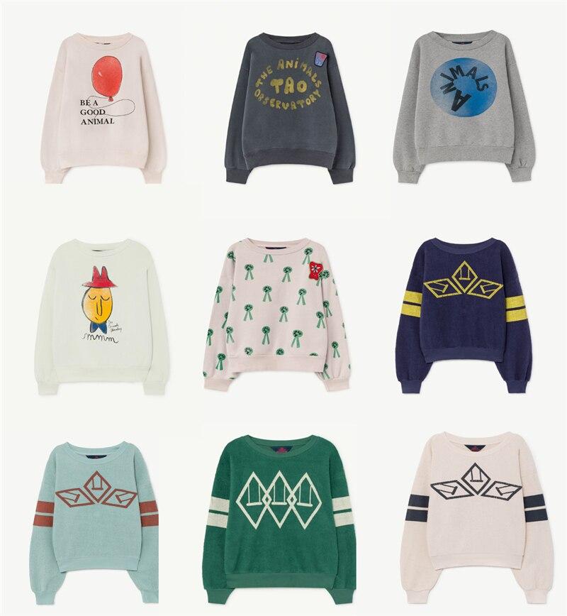 Tees Sweatshirt TAO Toddler Korean-Style Vintage Kids Winter Cottons Tops Fall Girl Baby
