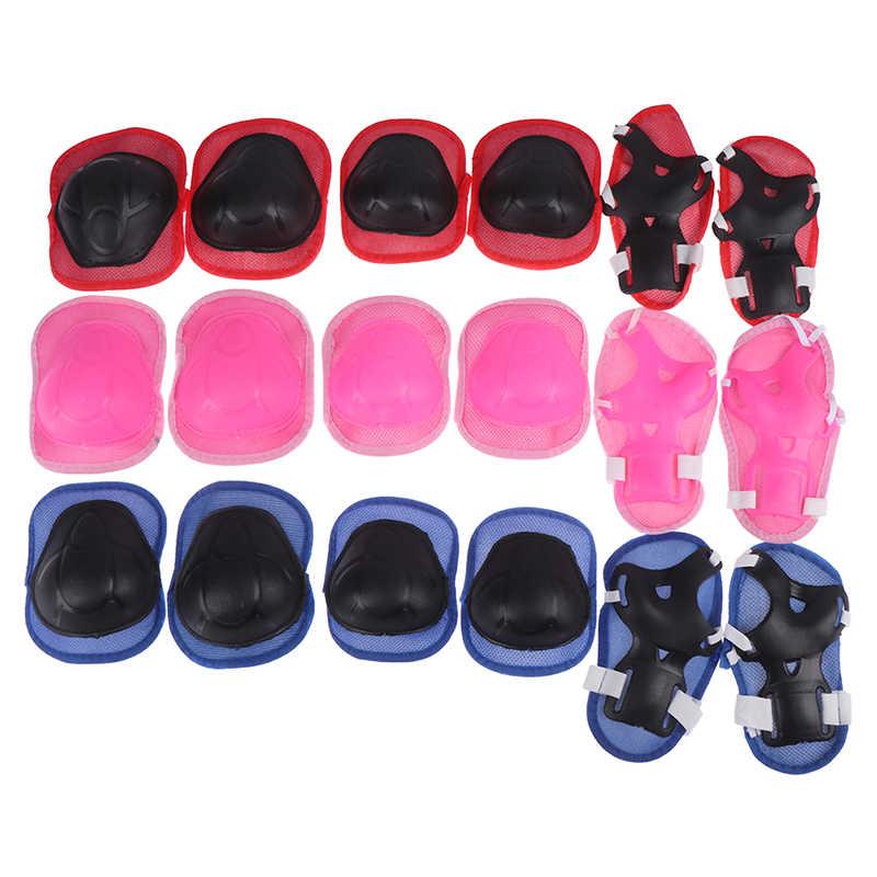 6 unid/set Codera almohadillas bicicleta monopatín patinaje sobre hielo rodillo Protector de rodilla para adultos niños regalo conjunto de equipo de protección de patinaje ajustable