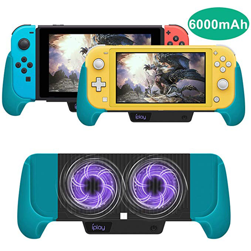 Nintend Switch Lite Accessories Cooling Charging Gamepad Joystick Power Bank Grip Cooler Charger Stand Dock Protective Case