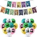 1 комплект Kimetsu без Yaiba воздушные шары аниме вечерние поставки Декор баннер на день рождения с камадо Tanjirou игрушка демон убийца латексные шар...