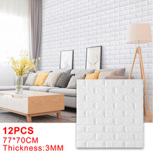 Foam Wallpaper Stickers Brick Self-Adhesive Bedroom Home-Decoration Living-Room Kids
