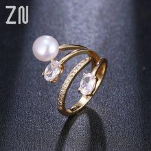 Циркониевое и Жемчужное регулируемое кольцо zn нестандартной