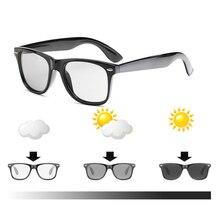 Men Women Prescription Glasses Photochromic Square Astigmatism Computer Myopia E