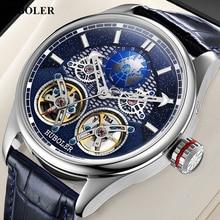 Men Automatic Mechanical Watch Double Tourbillon Wa