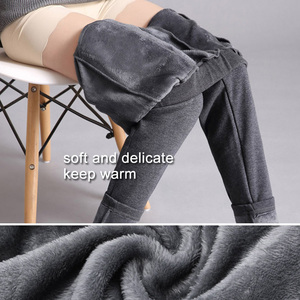 Image 4 - LOMAIYI Plus Size Winter Warm Pants For Women Korean Sweatpants Womens Trousers Female Black Soft Fleece Cotton Pants BW032