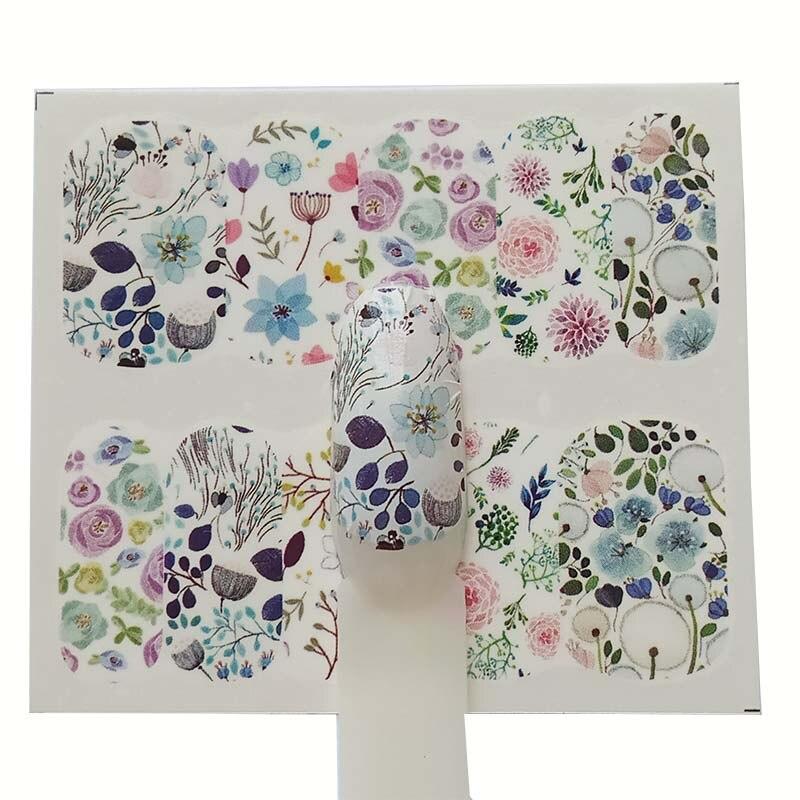 Adesivos para unhas etiqueta do prego flor diy manicure slider em relevo adesivo dicas da arte do prego decorações decalques a21/a22/a23/a24
