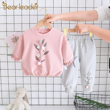 Bear Leader Baby Boy's Clothes Cotton Suit Cartoon Baby Girl's Clothes Toddler Girl Fall Clothes Casual Girls Boys Clothing Set