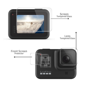 Image 2 - SHOOT Tempered Glass Screen Protector for Gopro Hero 8 Blcak Camera LCD Screen Protective Film for GoPro 8 Go Pro 8 Accessories