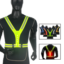 Breathable Traffic Night Work Security Running Cycling Safety Reflective Vest High Visibility Reflective Safety Jacket Bike LED reflective sling night night work security running cycling safety reflective vest high visibility reflective safety jacket