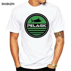 Camiseta de pesca pelágica nova aquática dos homens diy prited camiseta
