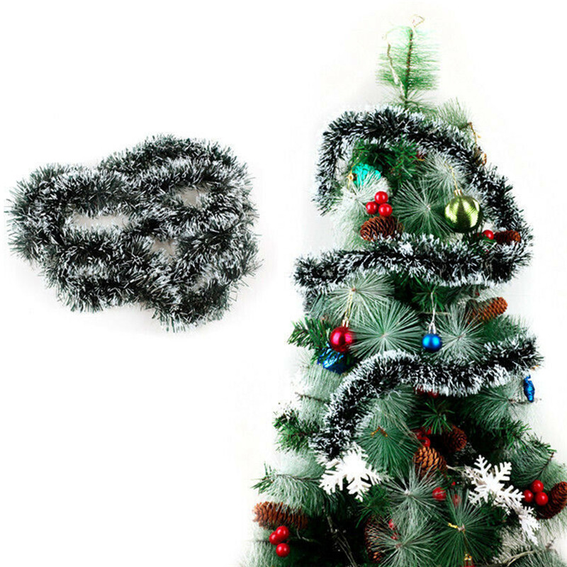 2M Christmas Xmas Tree Ornaments Tinsel Garland Hanging String Party Decorations
