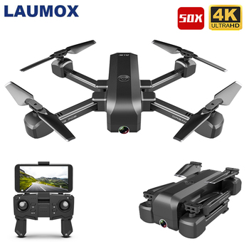 LAUMOX SG706 RC Drone 1080P 4K HD Dual Camera Quadcopter WIFI FPV 50X Times Zoom Foldable Stable Height Professional Drones
