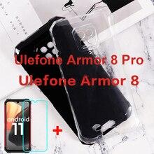 Trong Suốt Ốp Lưng Điện Thoại Ulefone Armor 8 Pro Silicon Mềm TPU Cho Ulefone Armor 8 5G 8Pro Miếng Dán Kính Cường Lực