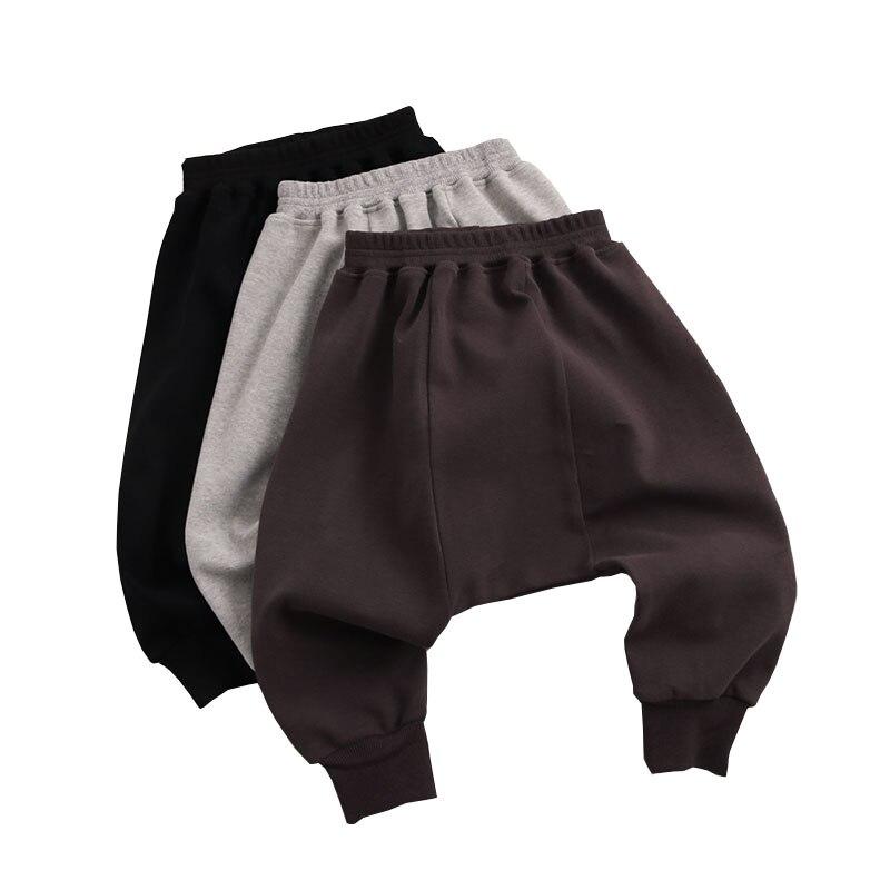 Модные Штаны для мальчиков, детская одежда на весну и осень, детские шаровары, брюки для маленьких мальчиков, однотонные Хлопковые Штаны для...