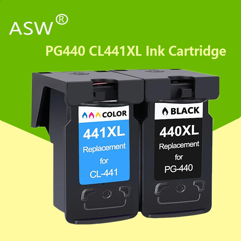 ASW PG440 CL441 Cartridge Replacement For Canon PG 440 CL 441 440XL Ink Cartridge For Pixma MG4280 MG4240 MX438 MX518 MX378