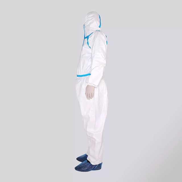 Xiaomi Mijia PPE Overall Protective Suit Clothing Dust-proof Anti-Virus Hooded Isolation Suit White Unisex Protective Coverall 3