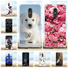 For Alcatel 3C Back Cover Ultra-slim Soft TPU Silicone Phone Case Floral Patterned Bumper Shell