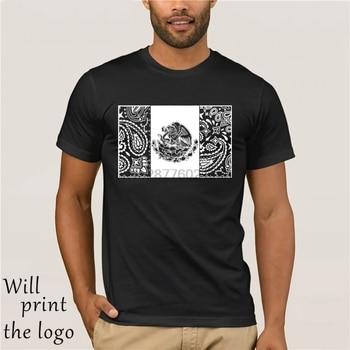 2018 موضة جديدة تي شيرت النسر ازتيك المكسيك علم المكسيك باندانا شيكانو الفن 13 المايا شولو طباعة تي شيرت غير رسمي
