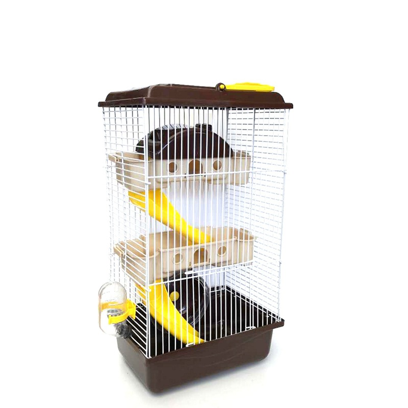 Factory Direct New Three-storey Villa Hamster Cage Golden Silk Bear Cage Villa Hamster Supplies Three-storey Villa LB819112