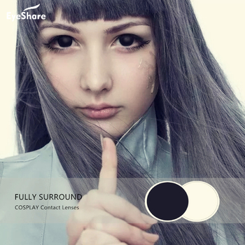 EYESHARE 1 Pair  Fully Surrounded Large Diameter Crazy Cosplay Contact Lens Sclera Color Contact Lenses Halloween