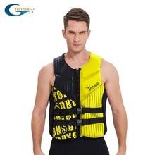 Neoprene Kayak Life Jacket Profession Swimming Surfing Adult Life Vest Drifting Motorboat Buoyancy Jacket Safety Life Vest