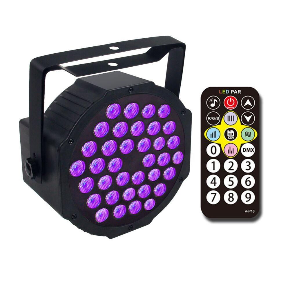 12/18/36 LED UV Black Light Ultraviolet LED Par Stage Light With DMX512 For Blacklight Party Birthday Wedding DJ Stage Lighting