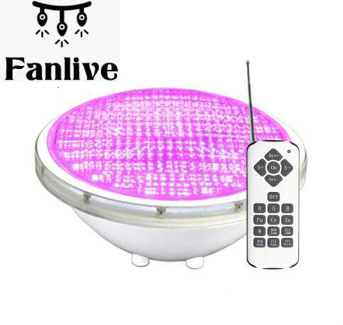 4pcs Underwater Swimming Pools Lamp RGB Color Changing 18W 24W 35W Waterproof IP68 Pisicina 12V Warm White Cool White
